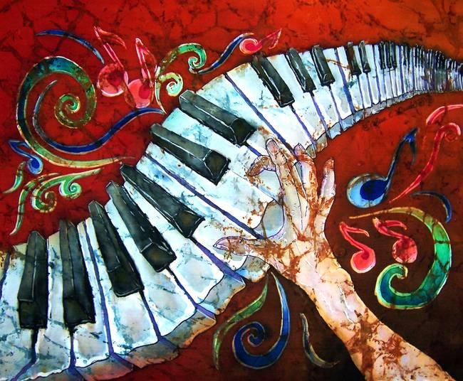 Music--Crazy-Fingers--Piano-Keyboard_art